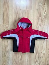 FADED GLORY 4in1 REVERSIBL Jacket Coat 18M toddler Red Black Grey DetachableHOOD