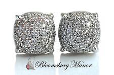 Tiffany & Co 18k oro blanco pendientes de diamantes Pilas De Azúcar Paloma Picasso