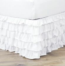Empire Pleated Ruffle Bed Skirt Solid Dust Ruffle All Sizes 9 Colors NEW ARRIVAL