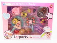 LOT 33159   Großes Spielset Kuchen Torte Donuts mit Geschirr für Kinderküche NEU