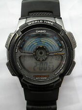 CASIO WORLD TIME DIGITAL WATCH AE 1100W ALARM CHRONO LIGHT STOPWATCH WRISTWATCH