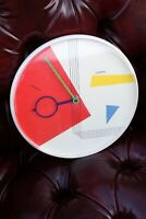 Vintage Linden Round Wall Clock Pop Art 80s West Germany Mod Retro Mid Century