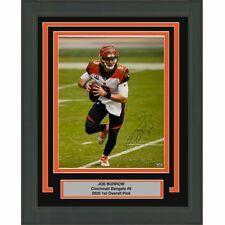 FRAMED Autographed/Signed JOE BURROW Cincinnati Bengals 16x20 Photo Fanatics COA