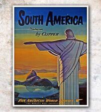 "Rio De Janeiro Art Travel Poster Brazil Wall Decor Print 12x16"" A60"
