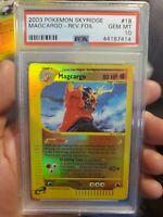 2003 Pokemon Card Skyridge Magcargo Reverse Holo 18/144 PSA 10 GEM MINT