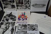 1990 Disneyland 35th Anniversary Press Kit - 6 8x10 Photos & 11 Press Releases