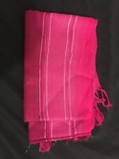 Soft Winter Gypsy Rose Pink Head Wrap, Scarf 38""