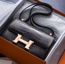 NEW  Hermes Constance 24 bag  Alligator and rose gold