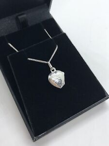 HEART LOCKET NECKLACE FOR BABY BABIES CHILDS - STERLING SILVER 925 - CHRISTENING