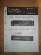 Kenwood Service Manual~KX-660HX Cassette/Tape Deck/Player~Original Repair
