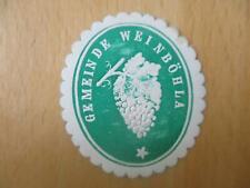 (32985) Siegelmarke - Gemeinde Weinböhla