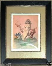 Framed Frank Frazetta Print ~ Girl Bathing ~ Ready To Hang
