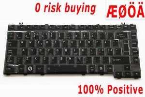 For Toshiba Satellite A300 A300D A305 A350 A355 L300 L450 Keyboard Nordic Danish