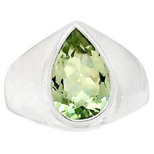 Green Amethyst 925 Sterling Silver Ring Jewelry s.6.5 GRAR1287