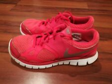 Nike Flex 2012 #512108-601 Womens Athletic Running Shoes Red Silver Size 7