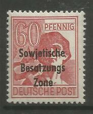 RUSSIAN ZONE. 1948. 60pf Red. SG: R14. Mint Lightly Hinged.