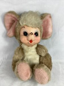 VTG RUSHTON?  RUBBER FACE PLUSH MOUSE STUFFED ANIMAL DOLL