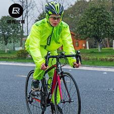 Unisex Sports Raincoat Cycling Bike Bicycle Waterproof Windproof Rain Coat Sets
