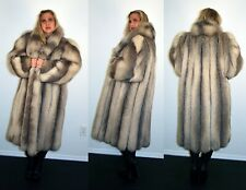 Brand New Marble Fox Fur Coat Size Extra Large 14 16 XL Efurs4less