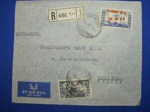 1946 Lebanon cover Liban Air Mail Par Avion France enveloppe Registered