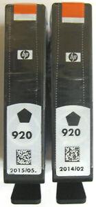 HP 920 / HP920 Genuine Black Cartridge. Twin (2) Pack. New & Sealed.