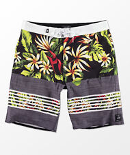 c9bc9a6d1cae Men s Vans Off the Wall Era Boardshort Swimming Summer Beach Black Floral  Pool