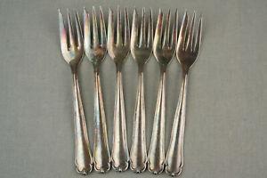 BRUCKMANN 761 FAVORITE 90er Silber 6x schöne alte Kuchengabel