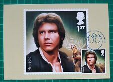 2015 Star Wars PHQ Postcard Used First Day Han Solo