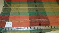 Peach Green Plaid Nylon Print Upholstery Fabric 1 Yard R912
