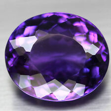 15x12.5mm OVAL-FACET DEEP-PURPLE NATURAL AFRICAN AMETHYST GEMSTONE (APP £185)