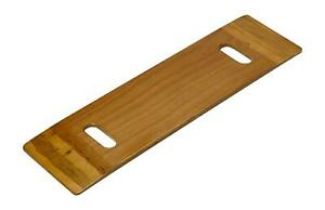 Transfer Board Wooden Strong Grip Holes Wheelchair Car Bed Slide Disability Solo