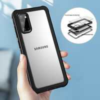 For Samsung Galaxy S20+ S20 Ultra Clear Back Case Cover Shockproof Hybrid Rugged