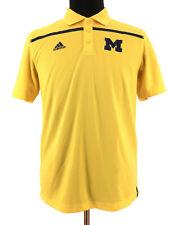Adidas Mens University Of Michigan Wolverines Yellow Golf Polo Shirt Size Medium