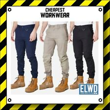 ELWD | Elwood Workwear | Mens Cuffed Pants (Navy, Khaki, Black) not FXD CAT