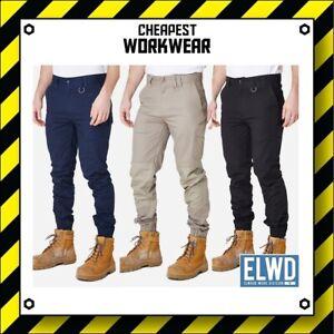 ELWD   Elwood Workwear   MENS CUFFED PANTS   Navy, Khaki, Black spf50 wp4 EWD103