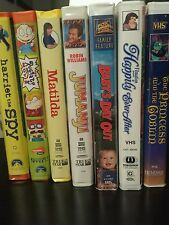7 VHS ,Baby's day out, Matilda, the Rugrats movie, Jumanji,harriet the spy