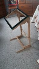 Rug Hooking Frame Floor Model Solid Oak