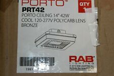 Rab Prt42 42w Porto Ceiling Led Garage / Canopy Light Nib