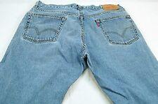 Levi's 505 Men's 34 x 29 (TAGGED 36x30) Denim Jeans - Missing Belt Loop  #T094