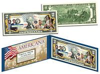 The KENNEDY Family *Americana* (JFK/RFK/TED/JR/JACKIE O) Legal Tender US $2 Bill