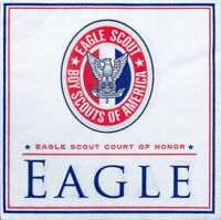 Boy Scout Official Eagle Scout Court of Honor 50 Dessert Napkins Red White Blue