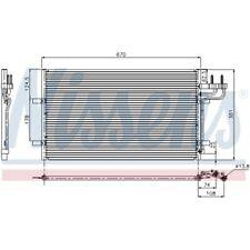1 Kondensator, Klimaanlage NISSENS 94663 passend für FORD