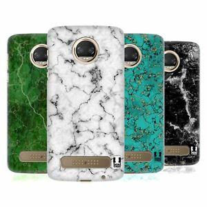 HEAD CASE DESIGNS MARBLE PRINTS HARD BACK CASE & WALLPAPER FOR MOTOROLA PHONES 1