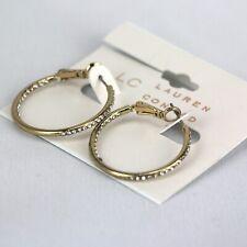 "1.25"" Rhinestone Gold-Tone Hoop Lc Lauren Conrad Earrings"