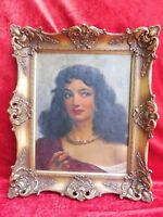 Pretty, Old Painting__Women's -portrait__Southerner (Gypsy )__ Signed_