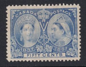 CANADA 1897 MINT #60, 50c QUEEN VICTORIA JUBILEE ISSUE !! C10A