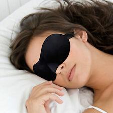 Unisex Soft Padded Blindfold 3D Eye Mask Travel Rest Sleep Aid Shade Cover