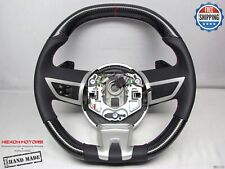 Chevrolet Camaro SS 5th Gen Flat Top Bottom Jewel Red Ring Carbon Steering Wheel