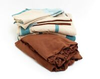 8teilig Winter Bettwäsche Flanell Fleece blau beige 135x200cm 80x80cm 40x80