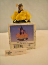"""Retired Charming Tails """"Shhh, don't make a Peep"""" by Dean Griff New in Box 1998"""